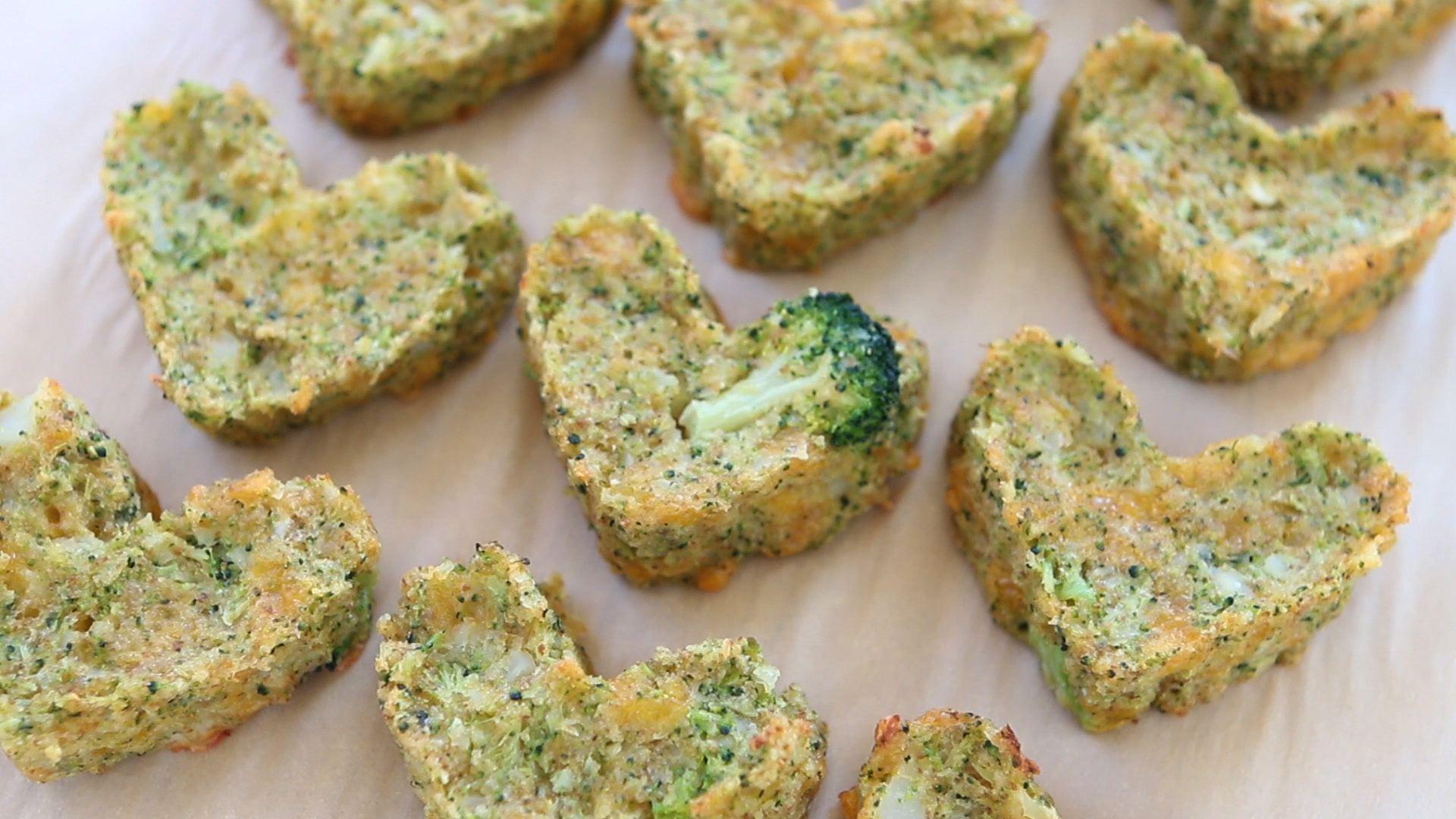 Baked Broccoli and Potato cheesy tots