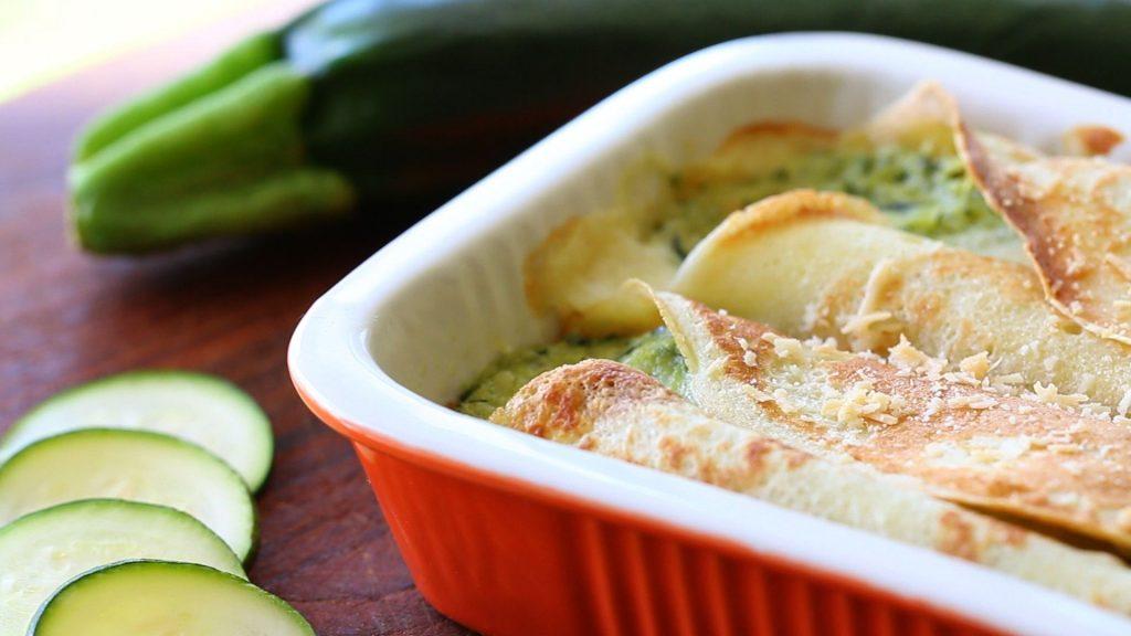 Cannelloni pasta with zucchini