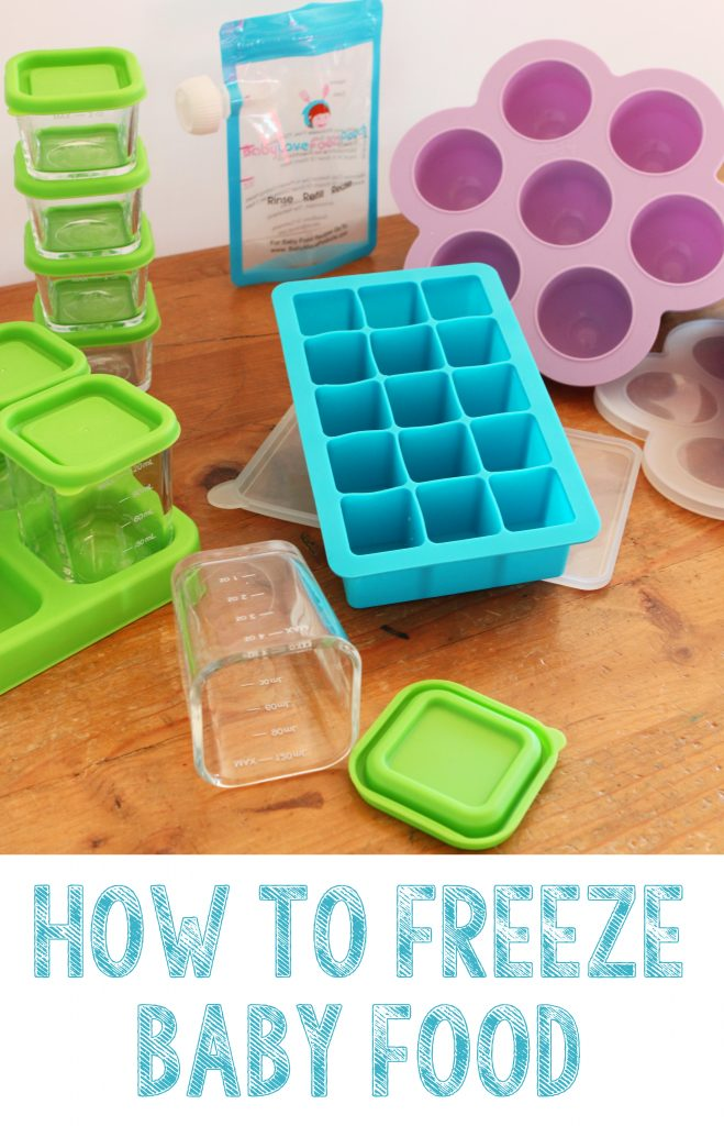 how to freeze babyfood long