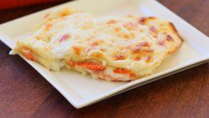 Smoked salmon lasagne