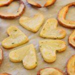 Cuori di patata al forno
