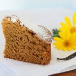 Camomile cake – no eggs, no dairy, no butter