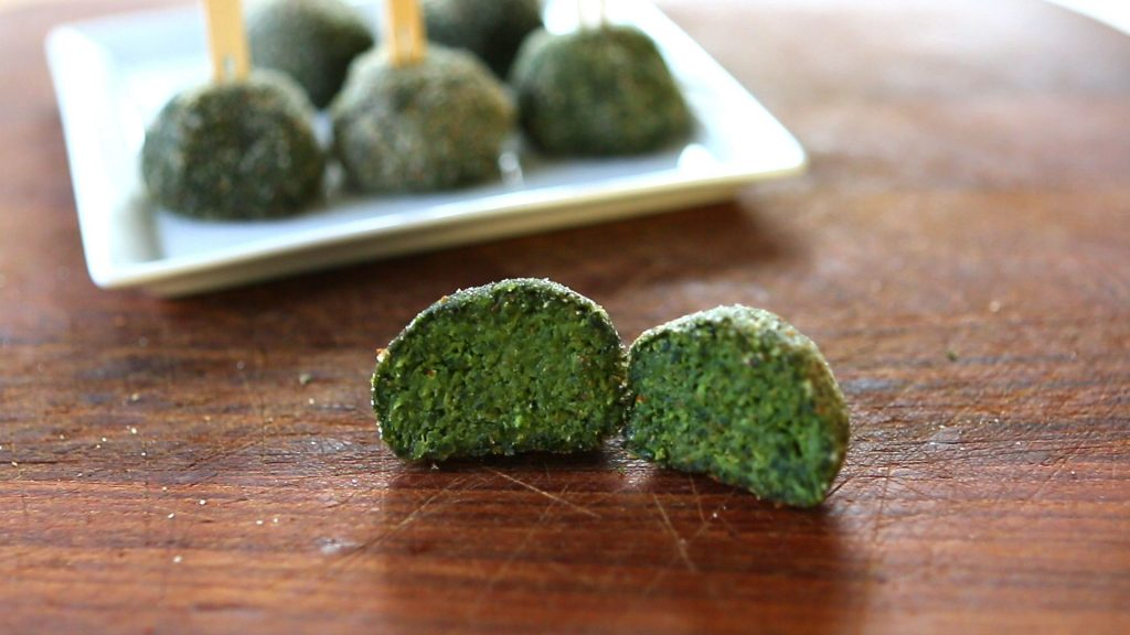 kale spinach balls