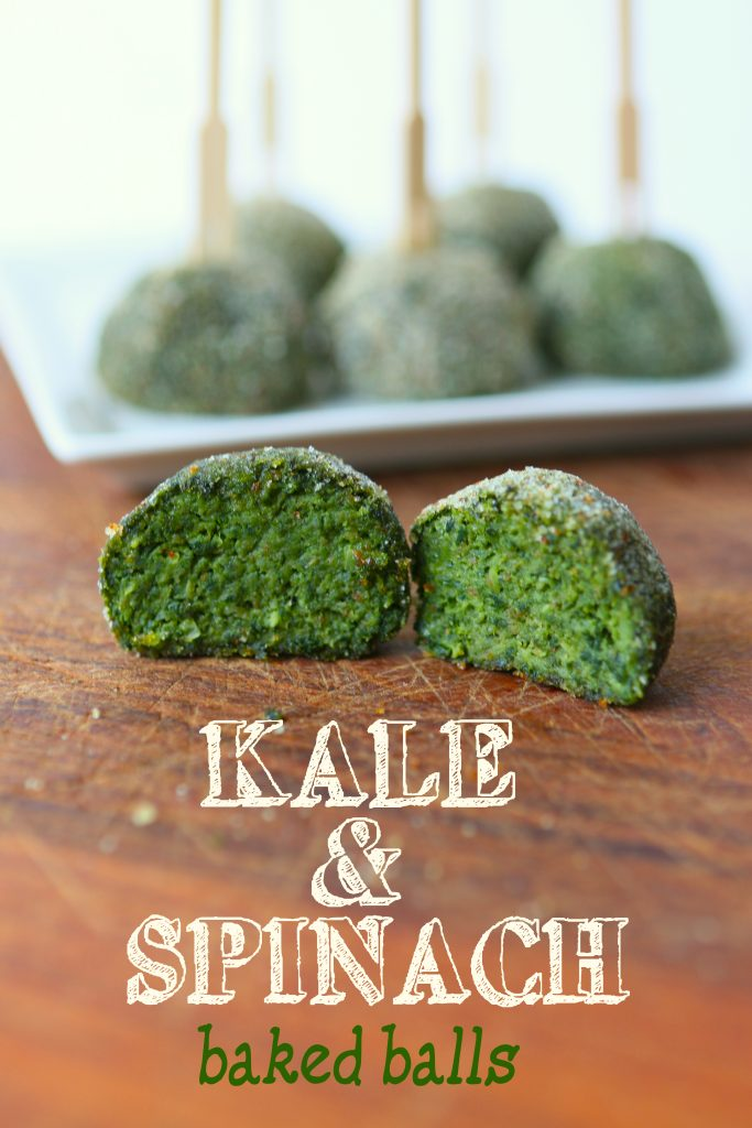 kale spinach balls long