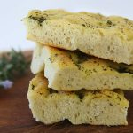 Homemade Focaccia bread with fresh thyme