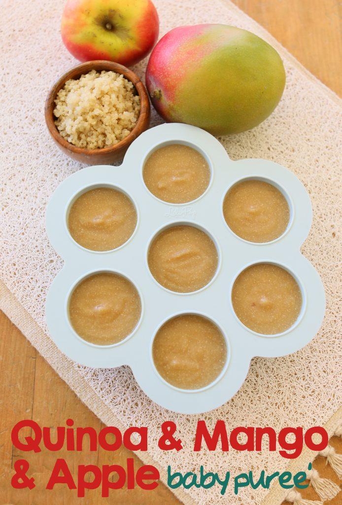 mango quinoa apple puree long