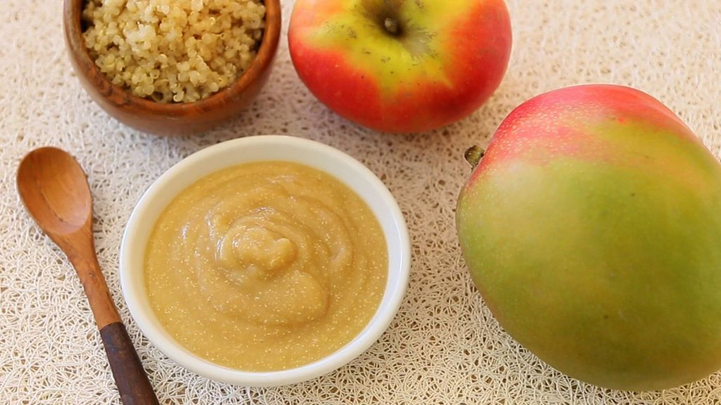 mango quinoa apple puree17