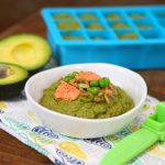 Salmon Avocado Sweet Peas Spinach baby puree +6 months