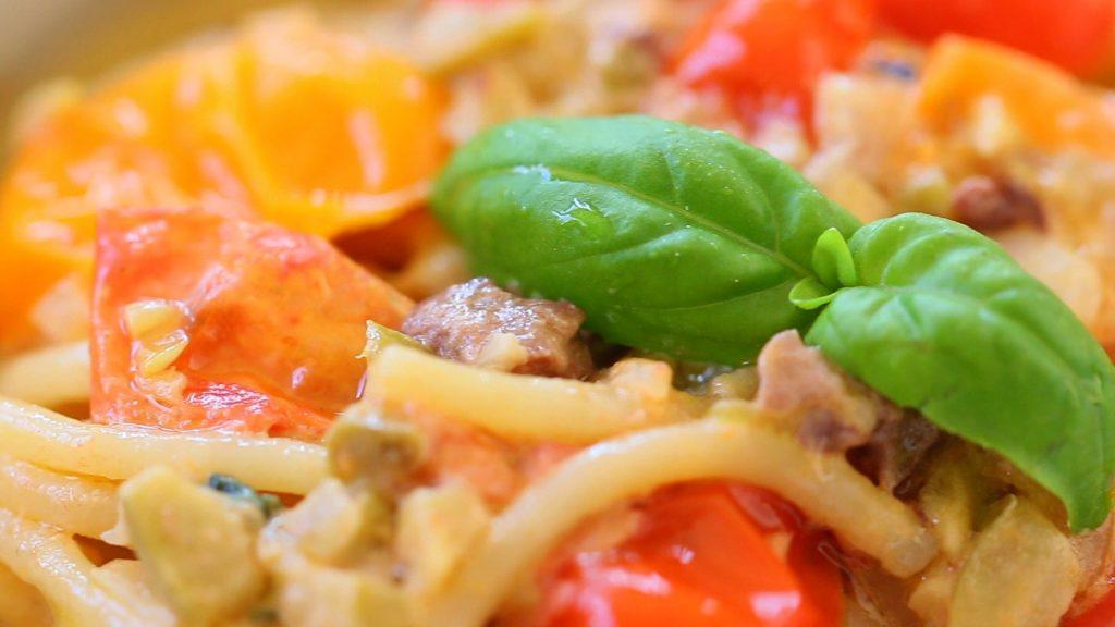pasta tomato caprino