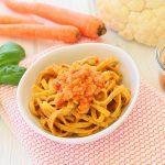 Pasta con ragu vegetariano di cavolfiore