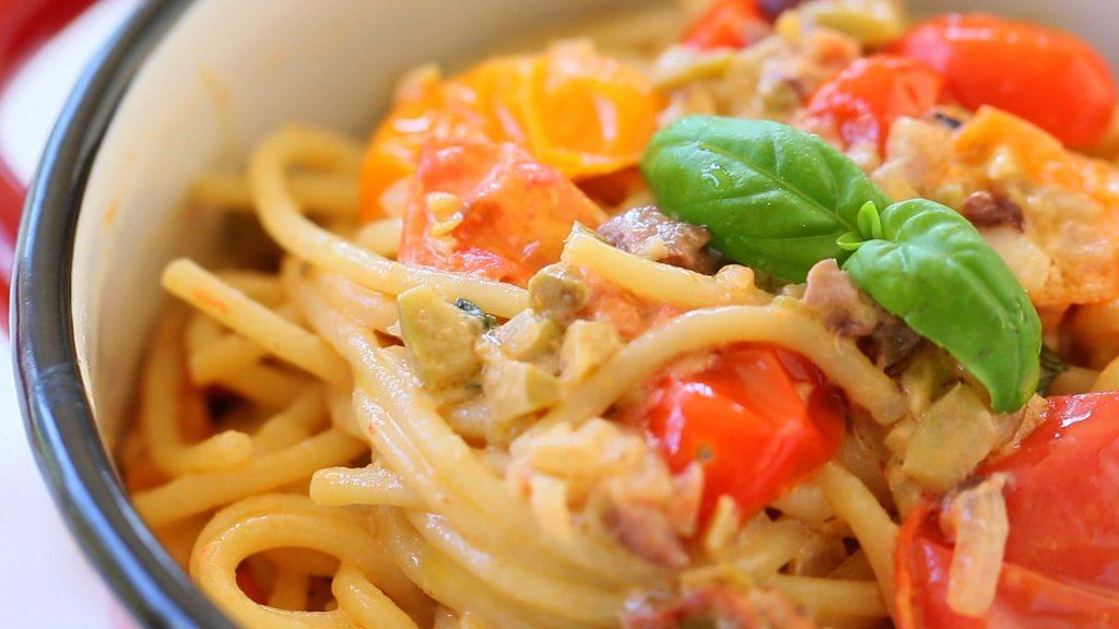 pasta tomato caprino18