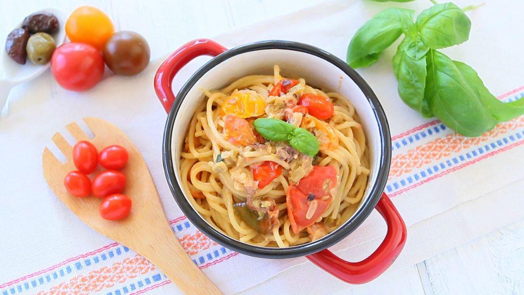 pasta tomato caprino5