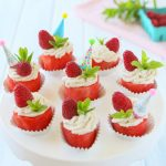 No bake Watermelon Cupcakes with coconut cream frosting – vegan