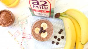 Chocolate Banana Smoothie with a2 Milk®