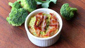 Broccoli Mortadella mini quiches - crustless