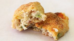 Ham & Zucchini Baked Croquettes