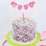 Torta di 1 Compleanno Viola al Cioccolato