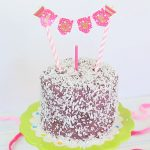 chocolate purple baby cake