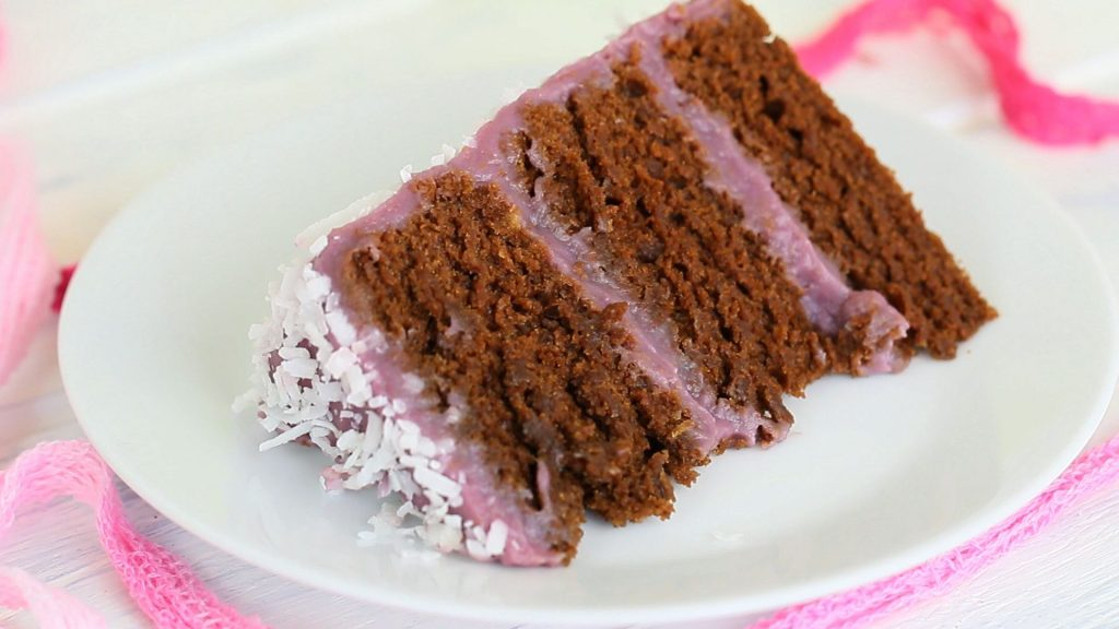 chocolate purple baby cake25