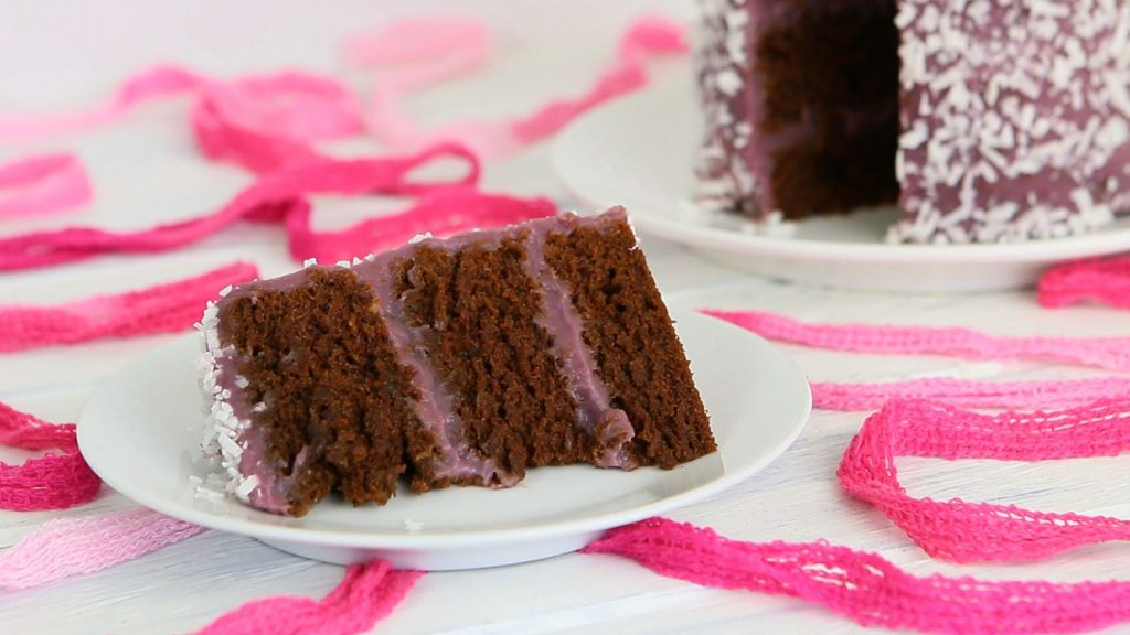 chocolate purple baby cake30