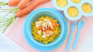 Chicken Rice Saffron baby puree