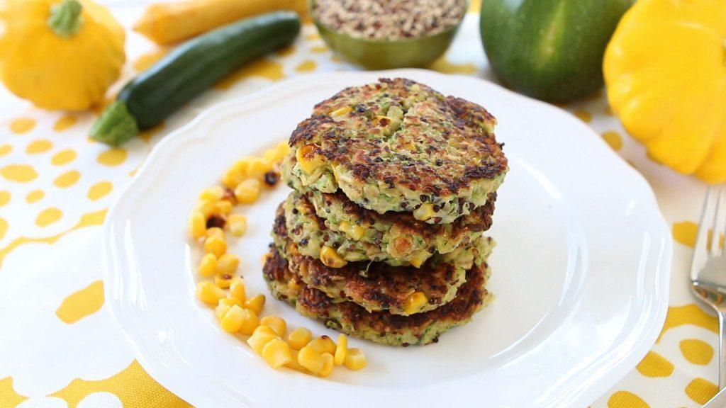 Quinoa Zucchini Oats Fritters - Gluten Free