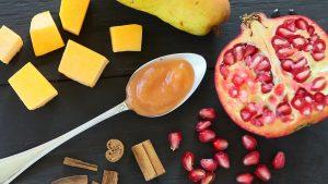 Pomegranate Pumpkin Pear Puree