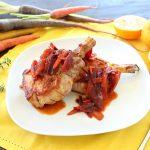 Braciole di maiale e carote agli agrumi