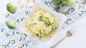 Broccoli Pasta with Cashews cream