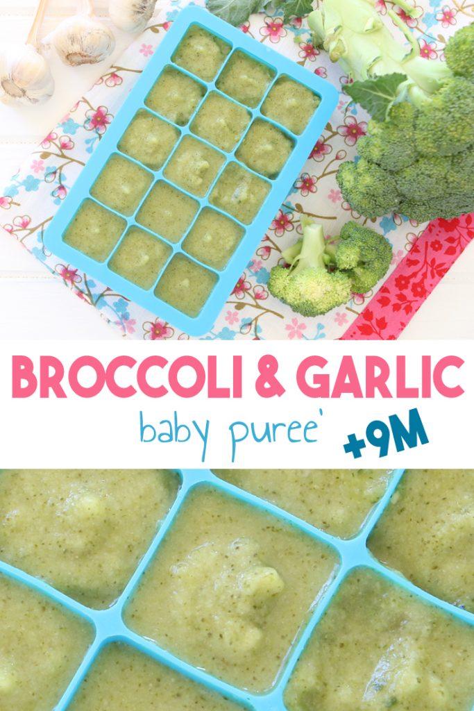 Broccoli Garlic Baby Puree 9 Months Buona Pappa