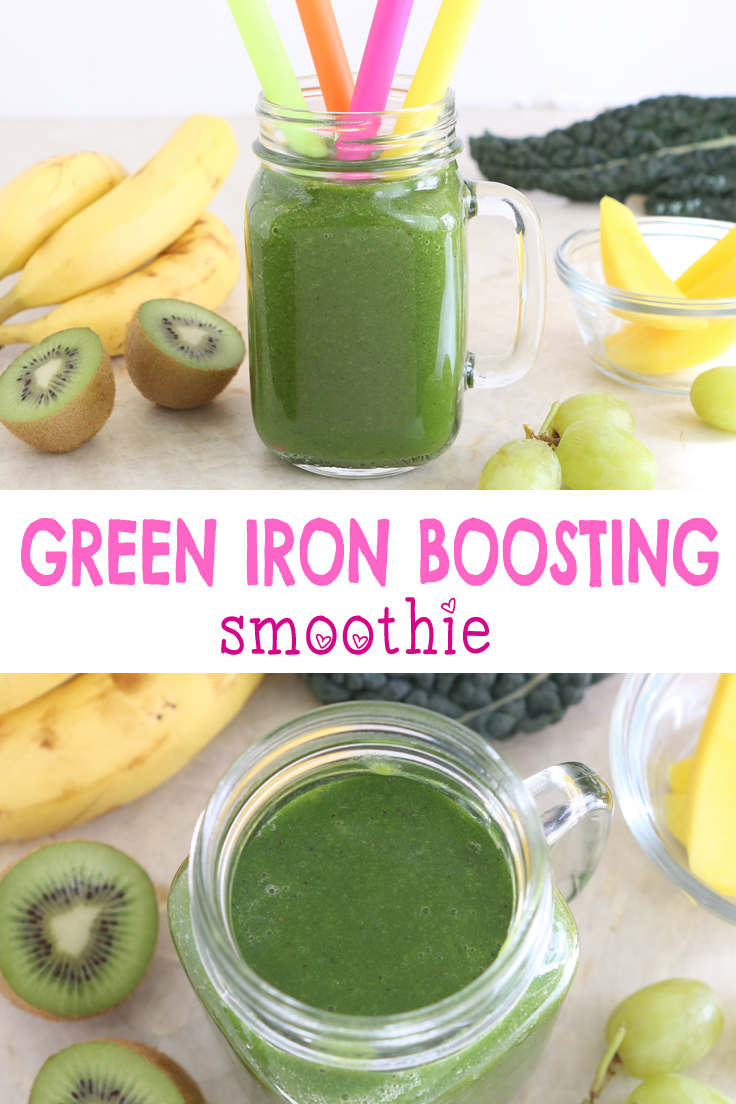 Green Iron Boosting smoothie. No added sugar, the smoothie is loaded with Iron and Vitamin C, perfect to ensure your baby a proper cognitive and developmental growth.