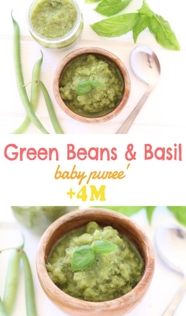Green beans and basil baby puree 4m buona pappa save forumfinder Gallery