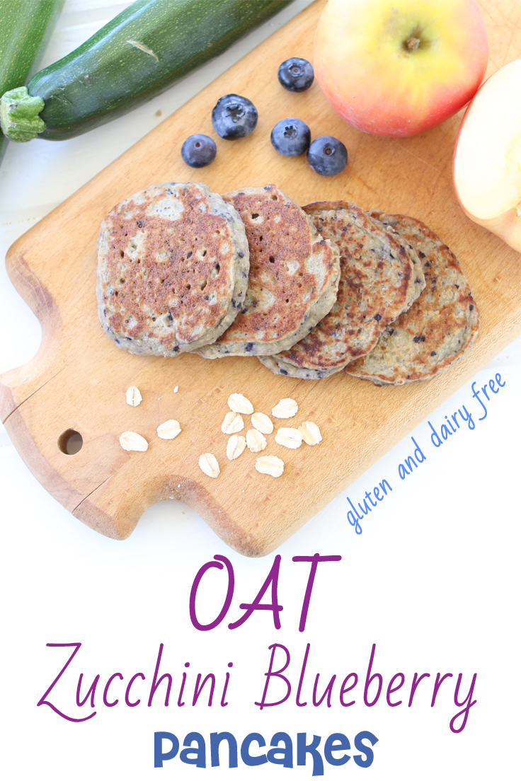 Are you looking for a brain boosting and energetic breakfast? Oat Zucchini Blueberry pancakes, loaded with nutrients, naturally gluten and dairy free.