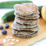 Oat Zucchini Blueberry Apple Pancakes +9M