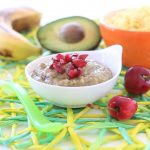 Avocado Cherries Banana Millet Baby Puree recipe +6M
