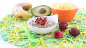 Avocado Cherries Banana Millet Baby Puree recipe +6M
