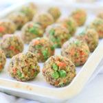 Quinoa Salmon Pea Broccoli Baked Balls +9M