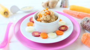 Chicken Carrot Ginger Baby Puree +6M