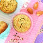 Quinoa Banana Almond Baby Muffins – Vegan
