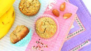 Quinoa Banana Almond Baby Muffins - Vegan