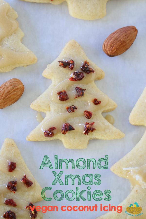 Christmas Almond Cookies W Vegan Icing Buona Pappa