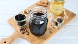 Homemade Elderberry Syrup - cold and cough remedy