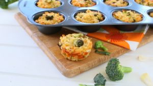Boccoli Muffins with Brown Rice - Gluten Free +9M