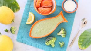 Salmon Broccoli Lemon Baby Puree' +9M