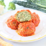 Turkey Veggie Meatballs in Marinara Sauce – Egg Free