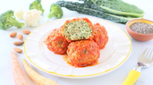 Turkey Veggie Meatballs in Marinara Sauce - Egg Free