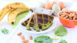 Spinach Almond Waffles - Gluten and Grain Free +6M