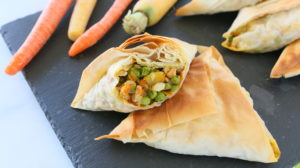 Baked Chicken Vegetable Samosa