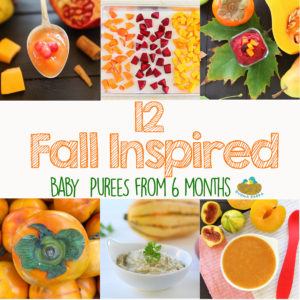 +12 Fall Inspired Baby Food Recipes