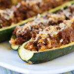 Stuffed Zucchini with Beef and Cauliflower